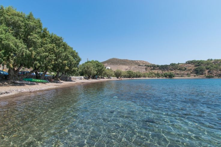 Meloi «Meloi» beach is located only two kilometers (about 15 minutes walking) away from the port of Skala and is very popular to those who do not have any form of transportation. It is a sandy beach with tamarisk trees, offering shade, where you may also find a traditional tavern and a pier.