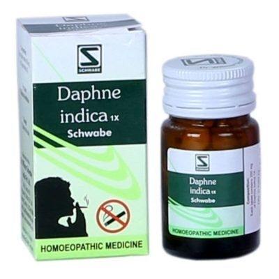 Schwabe Daphne Indica 1X tablets are indicated for tobacco addiction and related symptoms. This german homeopathic remedy helps in smoking cessation by acting on nicotine dependence and also acts a…
