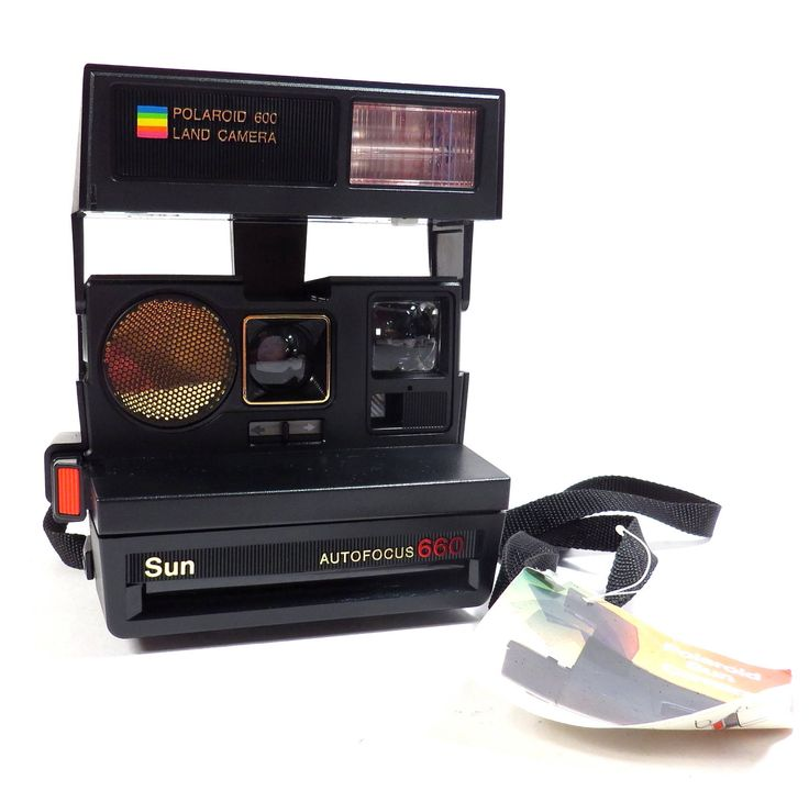 Polaroid Sun 600 Autofocus 660 Land Camera Vintage 1980s Instant Camera by VintageCreekside on Etsy