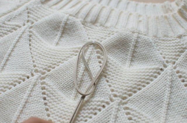 diy fringed knit 025