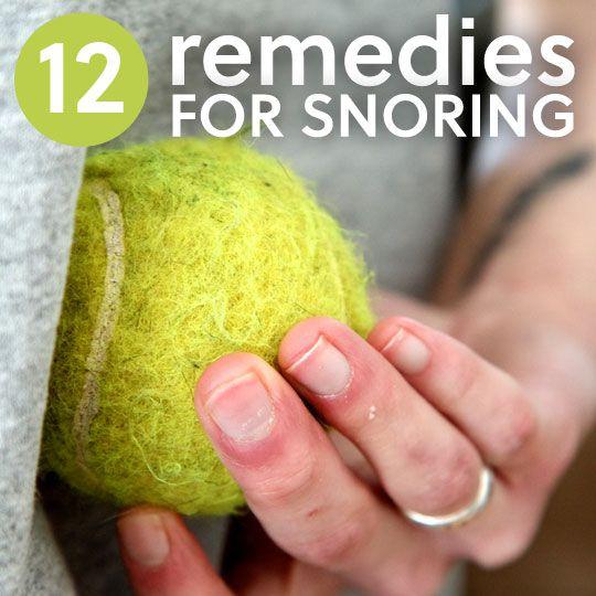 12 Snoring Remedies...to sleep better.