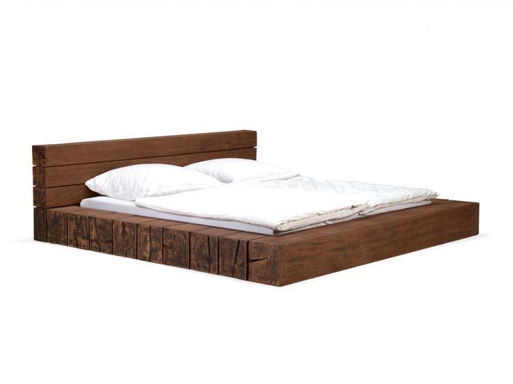 Łóżko Crusher 180x200 cm brązowe — Łóżka Massivum — sfmeble.pl