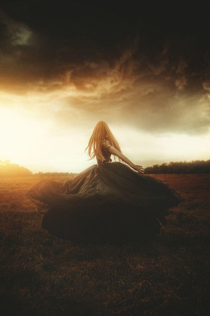 Woman In Black by TJ Drysdale Fine Art Fantasy Conceptual