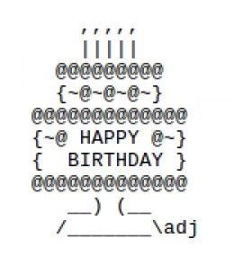 ASCII art - Happy Birthday