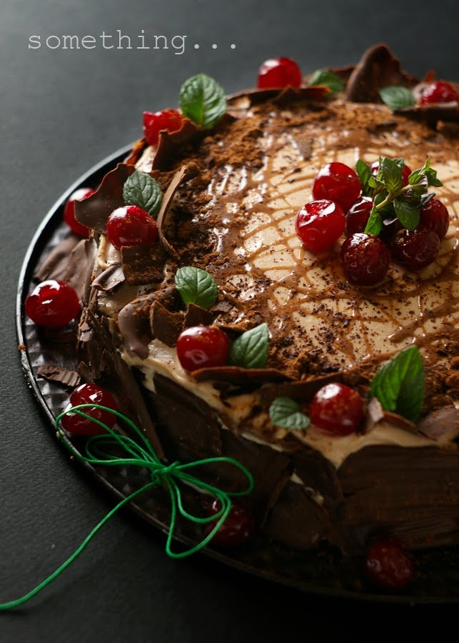mocha cake with Baileys and chocolate