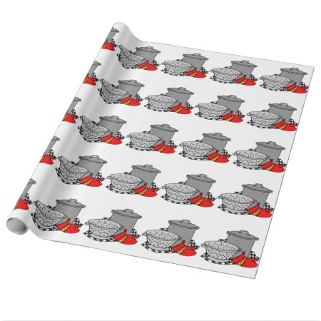Chef Cooking Pot Gift Wrapping Paper Cooking Gift