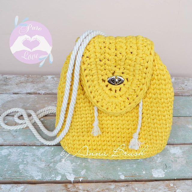 Вязаный крючком рюкзак из трикотажной пряжи Crochet backpack tshirt yarn, cotton rope handles #рюкзак #вязание #вязаниекрючком #crochet#трикотажнаяпряжа #аксессуары #handmade #tshirtyarn #backpack #crochetbag #summer #accsesories #вязаныеаксессуары #musthave