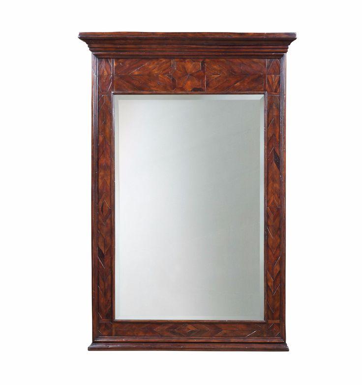 Georgian Antiqued Chevron Mirror