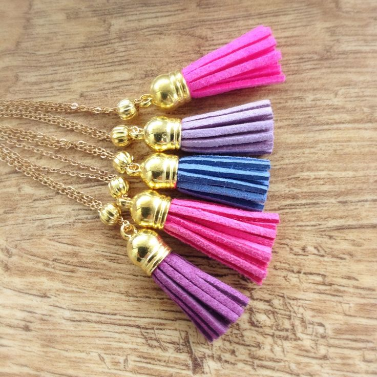 Long Purple Tassel Necklace, Bohemian Style, Gold and Purple Necklace