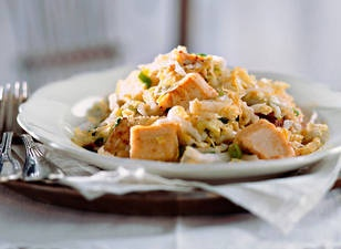 Chinese cabbage with tofu