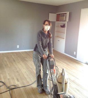 DIY - How to refinish hardwood floors - LilahV