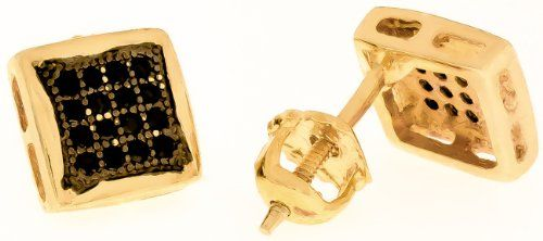 7mm - 14k Yellow Gold Plated over Solid 925 Sterling Silver Black CZ Square Earrings Thug Fashion Collection http://www.amazon.com/dp/B00GJ9VIY8/ref=cm_sw_r_pi_dp_7p6Uub0CTM0Y9