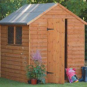 8 x 6 Overlap Premium Double Door Apex Shed, MAINLAND UK DELIVERY ONLY