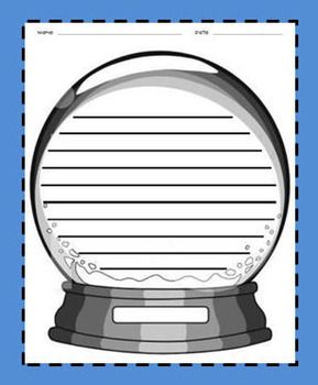 Use this snowglobe writing paper to go along with any fun, winter writing prompt!