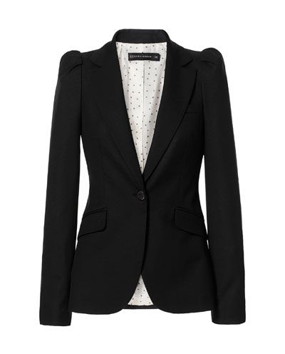 Image 6 of BLAZER WITH GATHERED SHOULDERS from Zara. This will go well with my new Stella and Dot Sutton necklace.
