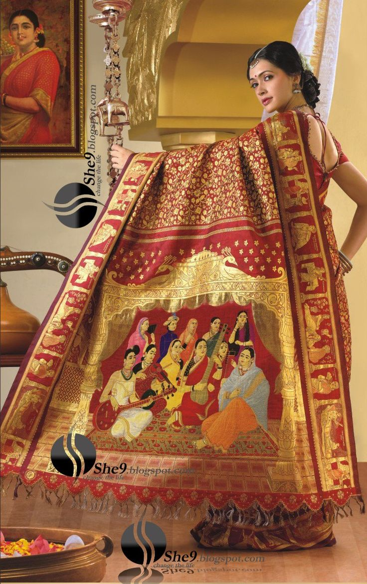 Silk Sari  How often have you come across a Rs. 40 lakh ($100,000) silk saree? Chennai Silks, a textile unit has come up with one of its kind and it is seeking an unmistakable entry into the Guinness Book of World Records for being the most unique and expensive saree.This 40 lakh saree will be the first silk saree that required the use of 7,440 jacquard hooks and 66,794 cards during the weaving process. Moreover, a group of consummate workers took nearly 4,680 hours