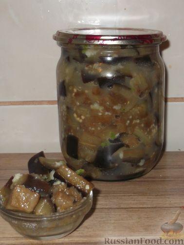 Фото к рецепту: Баклажаны с чесноком