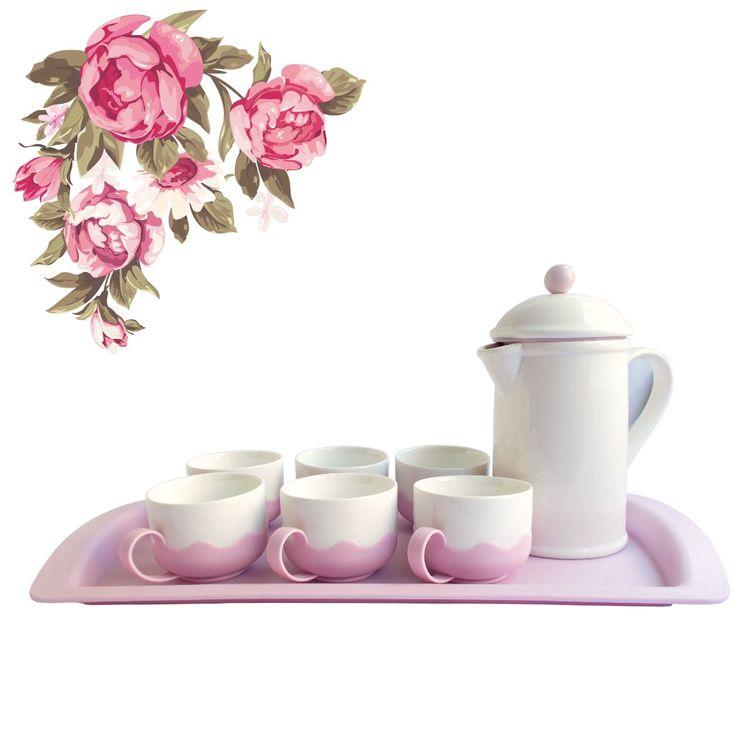 Set pentru ceai si cafea cu infuzor Sweet Romance