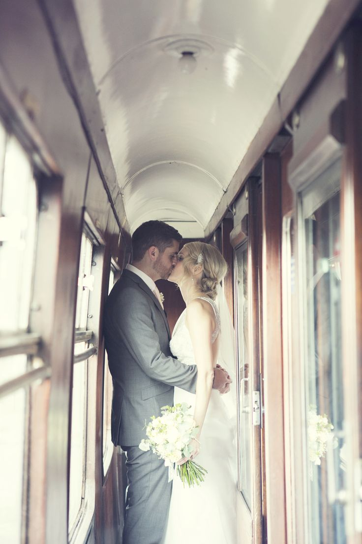 Vintage Inspired Wedding At The Buckinghamshire Railway Centre With Bride In…