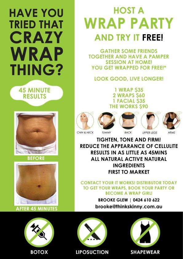 It Works Wrap Party Flyer | ... WRAPS | IT WORKS THE SKINNY ON HEALTH AND MONEY | SKINNY WRAPS | Megankendallwraps.myitworks.com