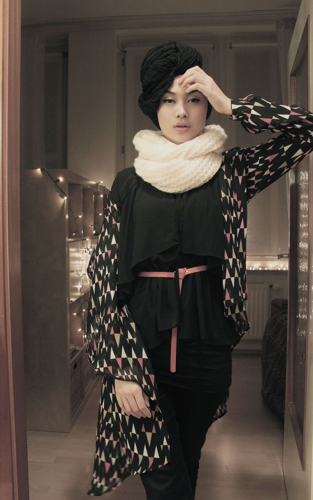 edgy turban look #hijab #hijabi #fashion #style