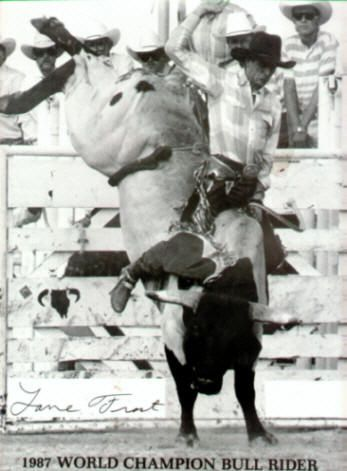 Lane Frost Last Ride | Lane Frost at the 1987 National Finals Rodeo