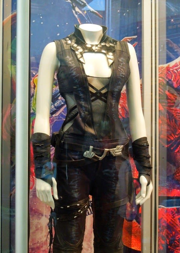 Gamora Costume - Detailed pics of the actual worn in movie costume; great for cosplay detail replication