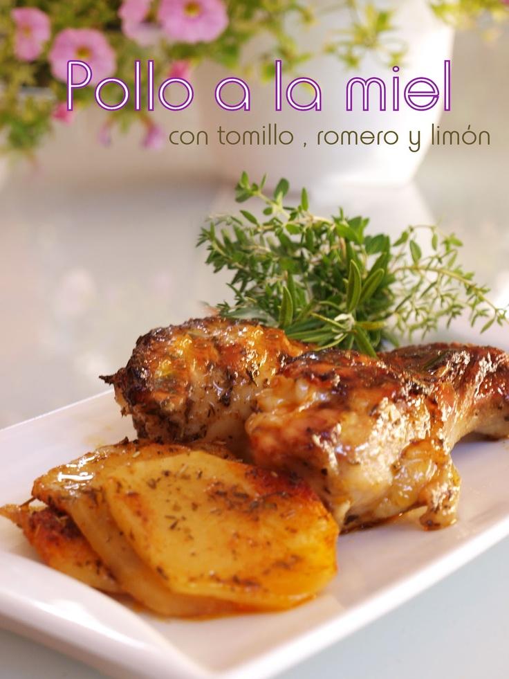 Bocados dulces y salados: Pollo a la miel con tomillo, romero y limón