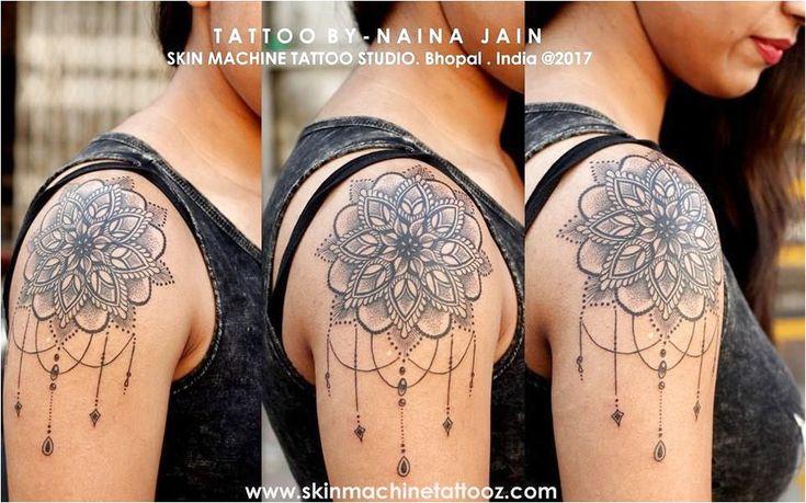 Dotwork Mandala tattoo by Naina Jain at Skin Machine Tattoo Studio Follow for mo…