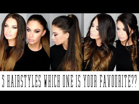 Beauty Works Hair extensions - 5 Hairstyles! - YouTube