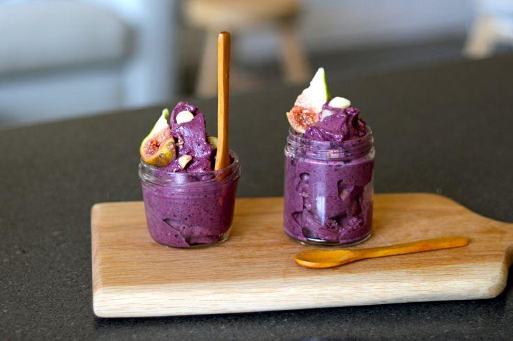Berry Delicious Ice-cream with Macadamia Crunch