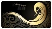 Hairdresser : Golg ragazza con i capelli lunghi. Illustrazione di moda. Eps10