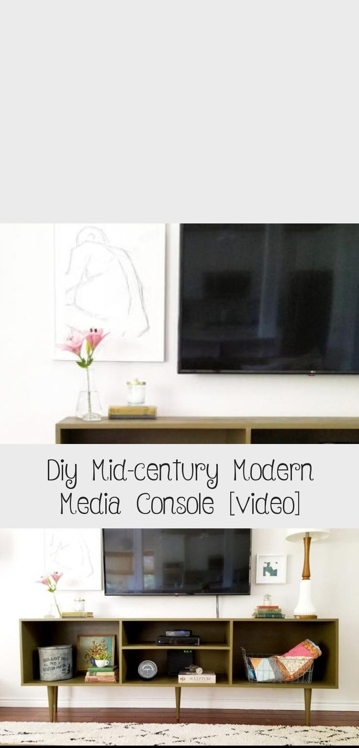 Diy midcentury modern media console video hearts and