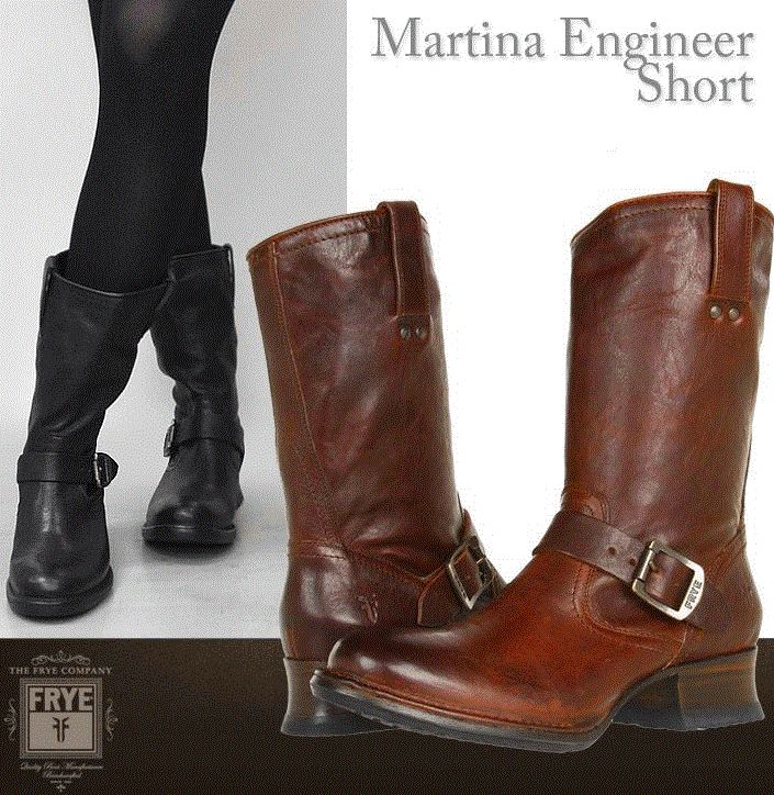 Love these Frye Martina Engineer Short boots.