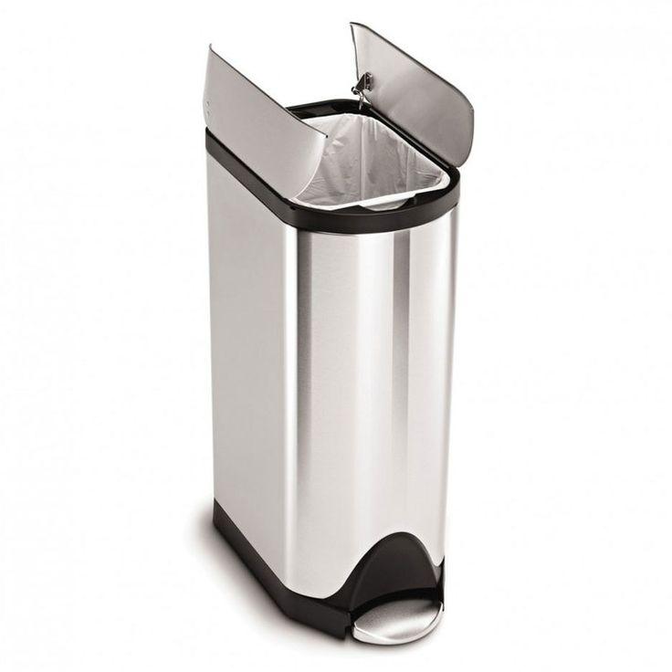 poubelle de cuisine pdale 30 litres inox bross ouverture papillon - Poubelle De Cuisine Jaune