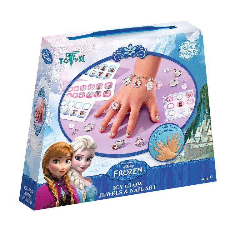 Maak je eigen Icy Glow Frozen sieraden en nagels met deze complete knutselset. Inhoud: 36 langdurig houdende nagelstickers - waterbestendig, stickervel, metalen schakelarmband, 5 ronde bedels, 5 metalen ringetjes, ring, zilverkleurig amulet, stukje dubbelzijdig foamtape en instructies. Afmeting: verpakking 18 x 15 x 3,5 cm - Maak je eigen Icy Glow Frozen Sieraden en Nagels