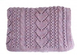 Betsi Baby Blanket Heart Knitting Pattern Images
