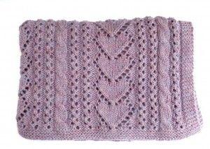 Betsi Baby Blanket Heart Knitting Pattern Images