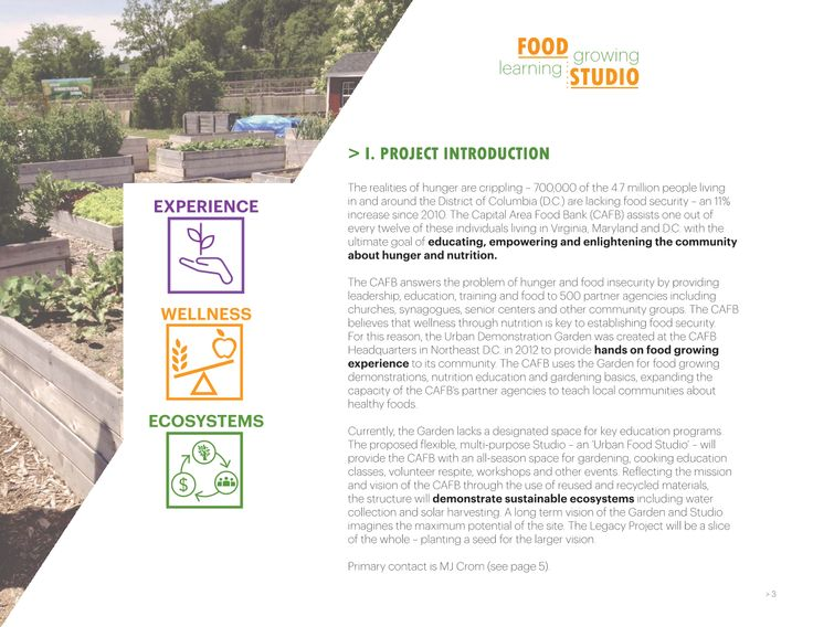 Excerpt from the RFP introducing the project proposal