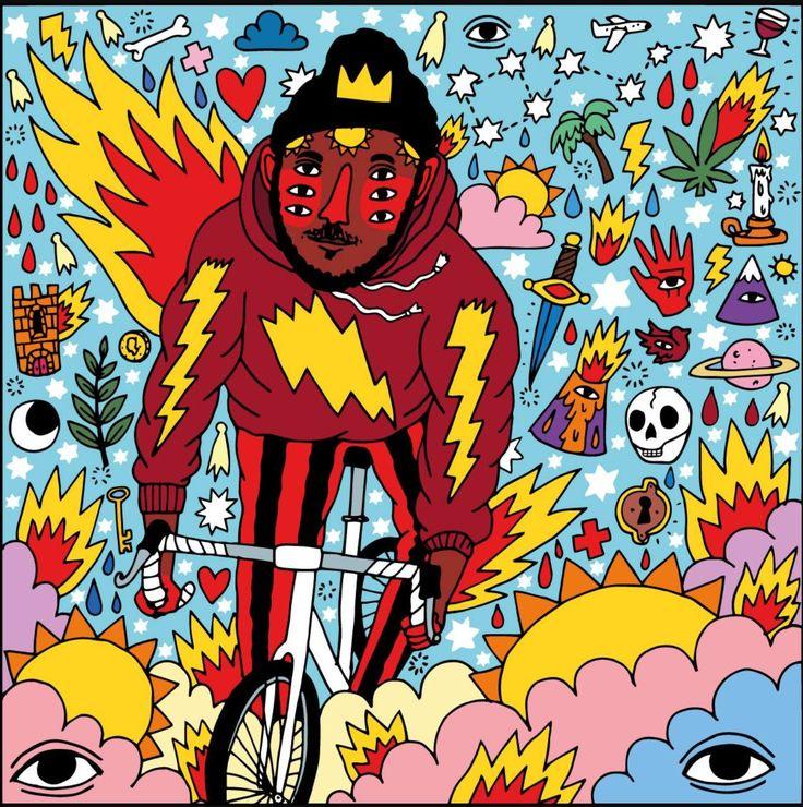 By Ricardo Cavolo. Canadian cover of Kaytranada's album 99.9%, 2016. (1440×1449)   Cavolo's website: ricardocavolo.com  Kaytranada's website: kaytranada.com