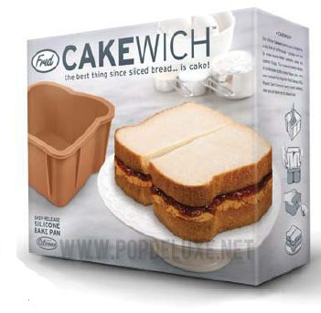 its a cake not a sandwich: Cakewich Cakes, Slices Breads, Cakes Pan, Cakewich Sandwiches, Sandwiches Cakes, Peanut Butter, Parties Time, Birthday Cakes, Cakes Moldings