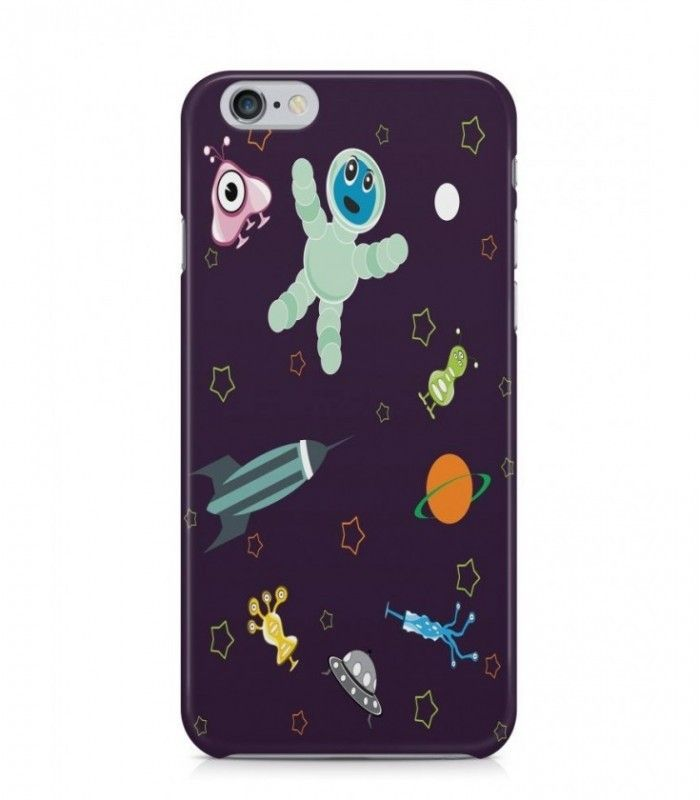 Amazing Rocket and Saturn Alien Theme 3D Iphone Case for Iphone 3G/4/4g/4s/5/5s/6/6s/6s Plus - ALN0166 - FavCases