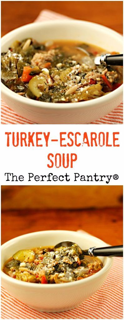 Turkey-escarole soup is the kind of soup you crave in cold weather, and it's packed with dark leafy greens.