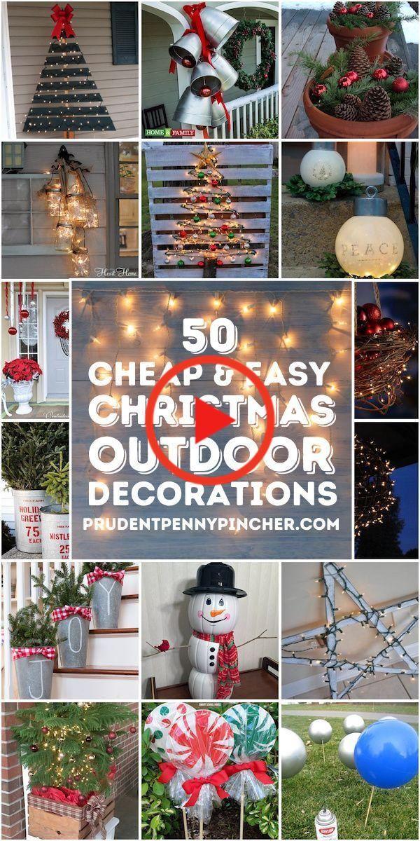 50 Goedkope En Gemakkelijke Kerstdecoraties Voor Buiten Diy Kerstversiering Kerstdecoratie Kerstversiering