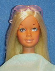 The Sun Set Malibu Barbie Model #1067 box date 1970, issue dates 1971-1977 blonde