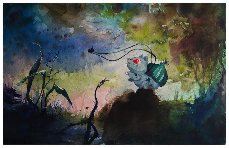 Bulbasaur watercolour fanart painting. #pokemon #pokemonart
