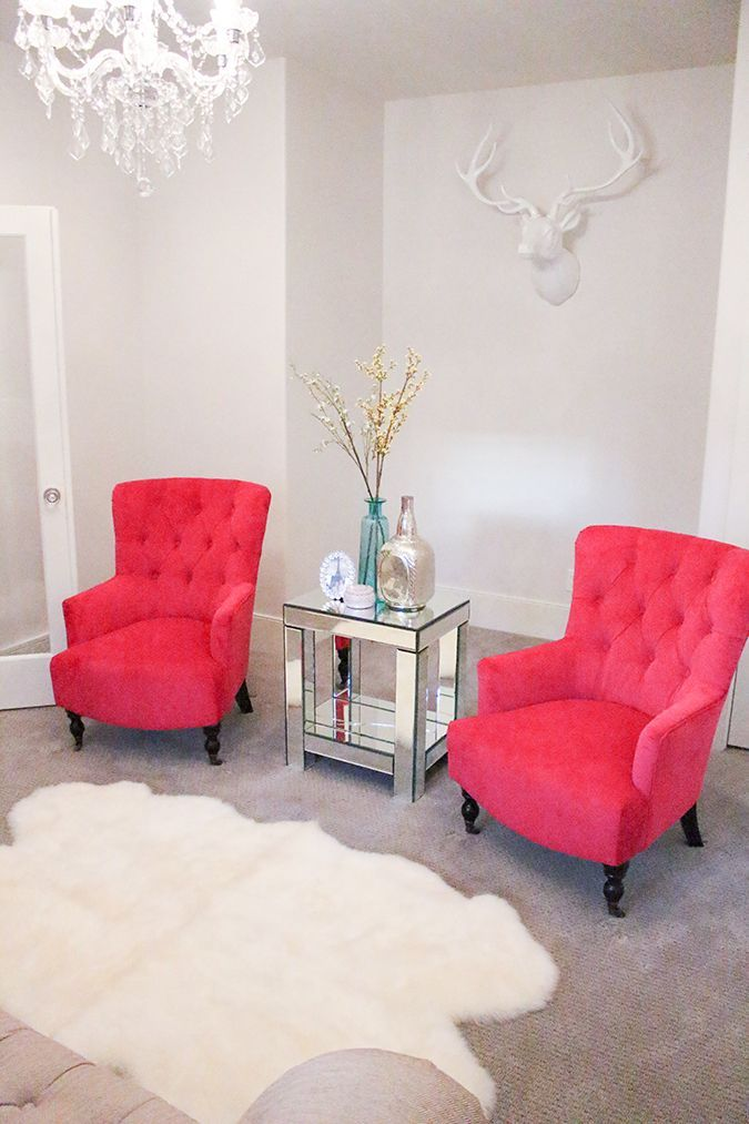 New Fuchsia Chairs In My Living Room A Slice Of Style Pink Chairs Living Room Living Room Chairs Accent Chairs For Living Room