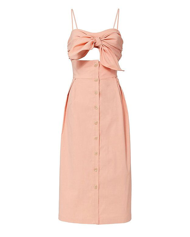 Sea Pink Tie-Front Cutout Dress