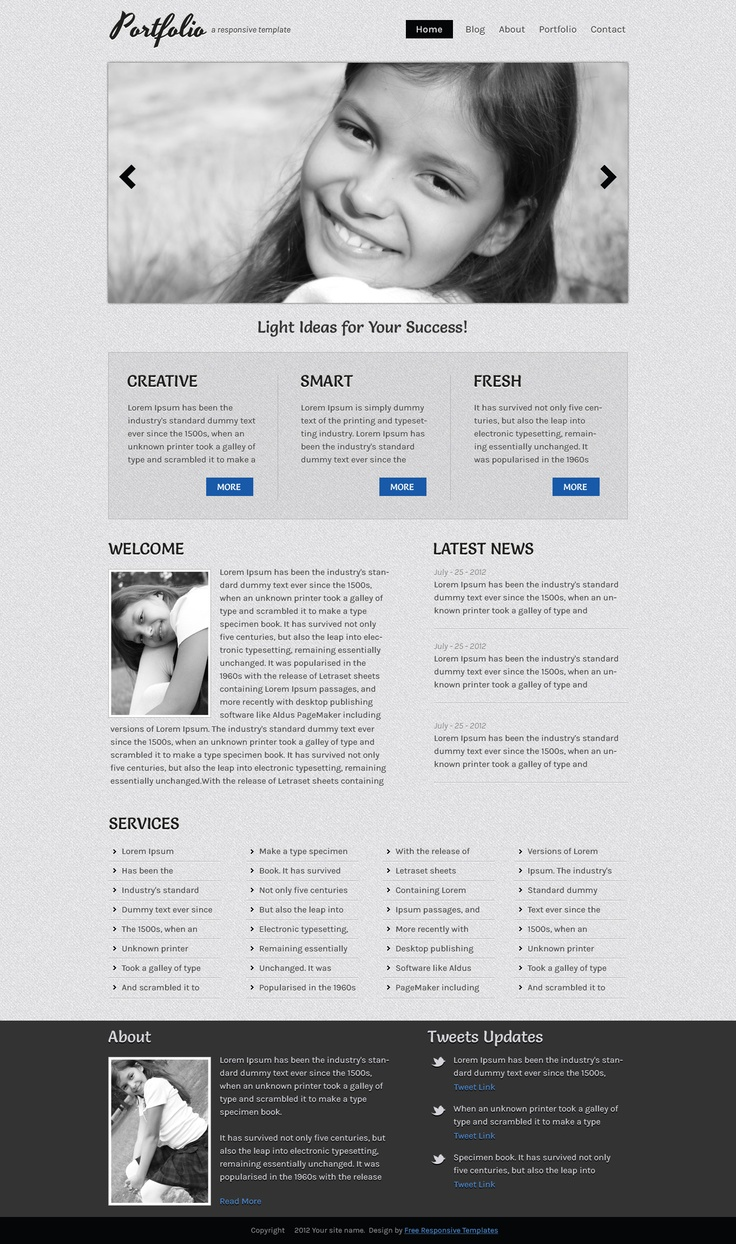 34 best Free Responsive Templates images on Pinterest | Role models ...