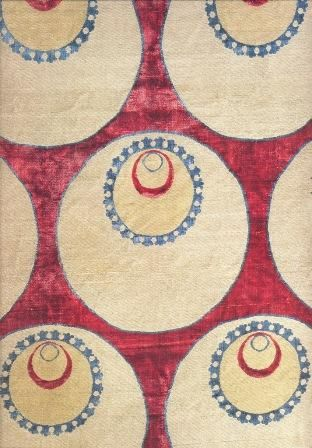 Half of a two-loom width cover with decorated roundels (detail), Second half of the 16th century, 147.5 cm long, Mevlana Museum, Konya